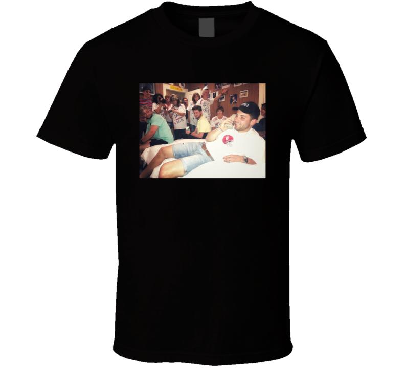Baker Mayfield Brett Favre Draft Day Oklahoma Cleveland Football Sports Team Fan T Shirt