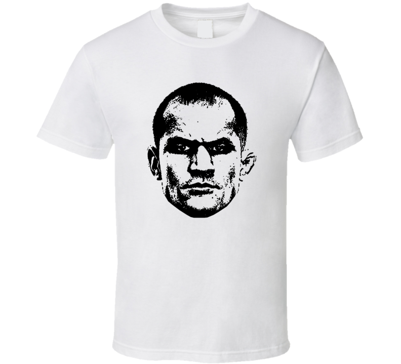 Junior Dos Santos Big Head Silhouette Mma Mixed Martial Arts Fighter Fighting Fan Cool T Shirt