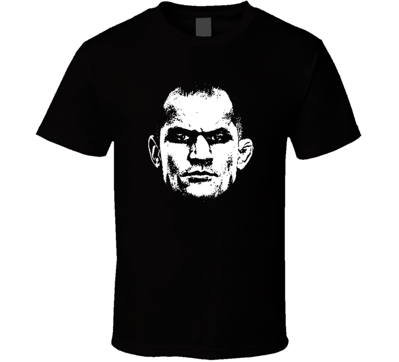 Junior Dos Santos Big Head Silhouette Mma Mixed Martial Arts Fighter Fighting Fan T Shirt