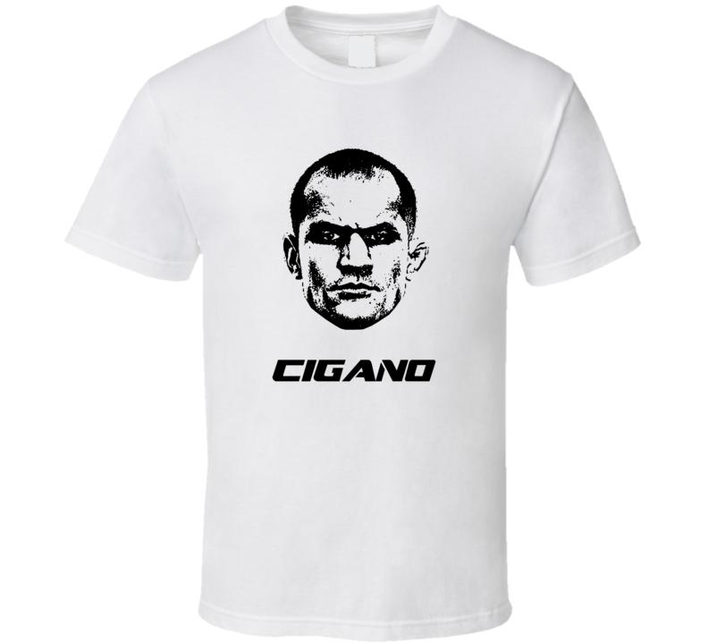 Junior Cigano Dos Santos Big Head Silhouette Mma Mixed Martial Arts Fighter Fighting Fan Cool T Shirt