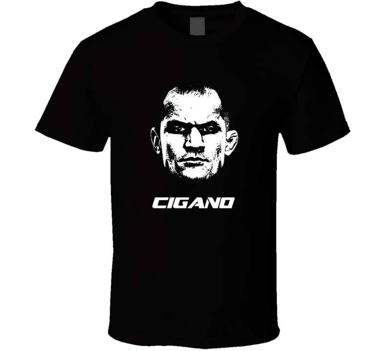Junior Cigano Dos Santos Big Head Silhouette Mma Mixed Martial Arts Fighter Fighting Fan T Shirt