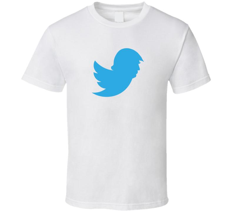 Donald Trump Twitter Bird Mashup Parody Cool Funny Political Politics Humor T Shirt
