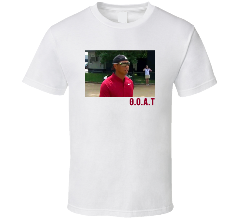 Tiger Woods G.o.a.t The Goat Pga Tournament Funny Golf Golfer Humor T Shirt