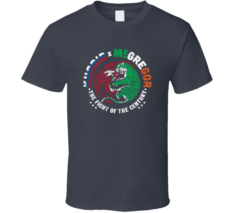 Khabib Nurmagomedov Vs. Conor Mcgregor Fight Of The Century Mma Fighter Fan T Shirt
