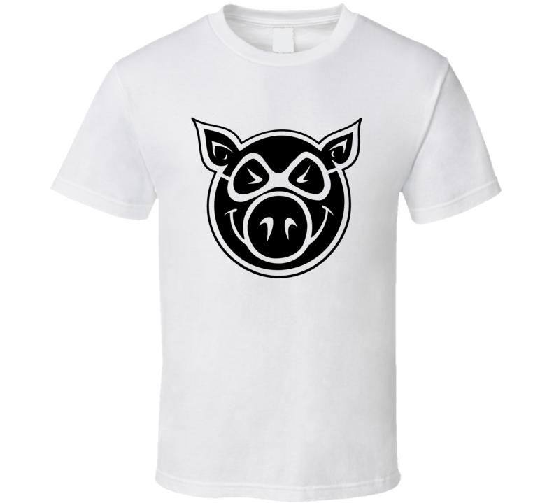 Pig Skateboard Wheels Skater T Shirt