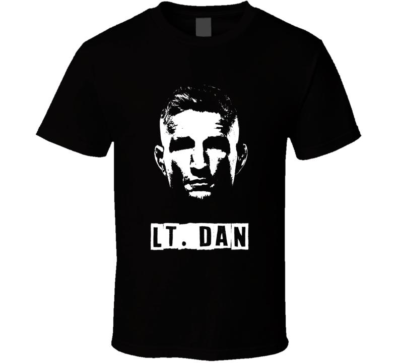 Tj Dillashaw Lt. Dan Lieutenant Big Head Silhouette Mma Fighter Fan Cool T Shirt