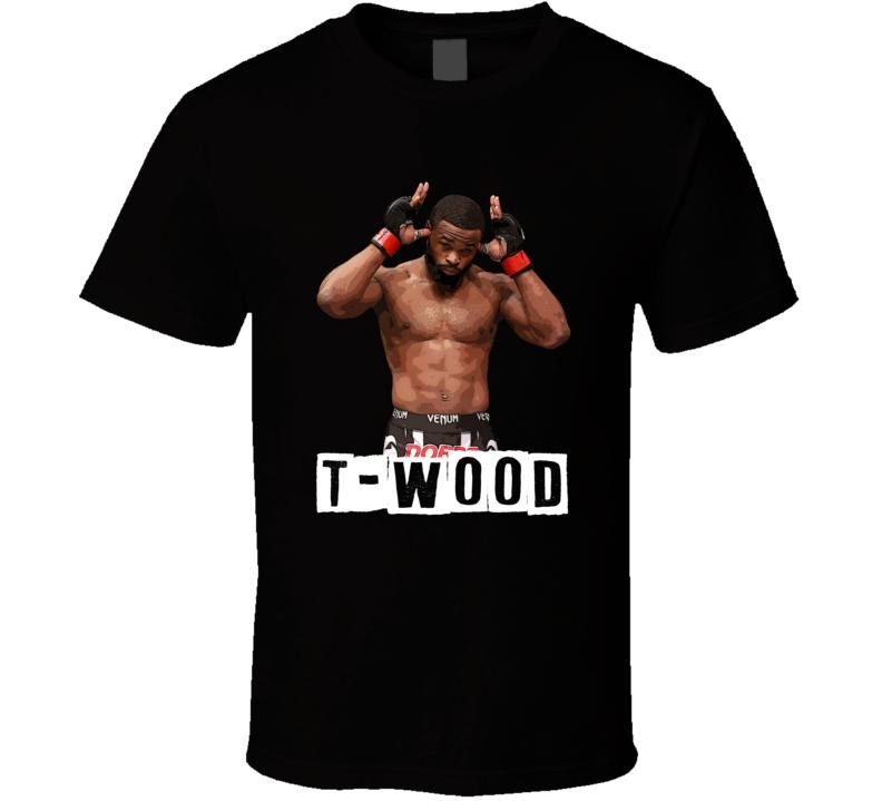 T-wood Cool Tyrone Woodley Mma Fighter Fan T Shirt