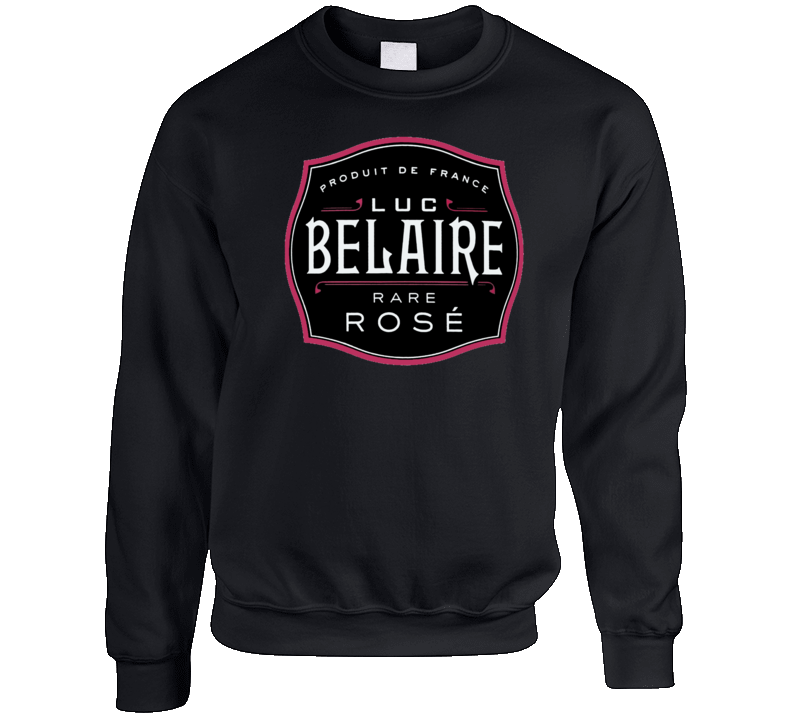 Belaire Rose Dj Khaled Popular Champagne Bottle Logo Crewneck Sweatshirt
