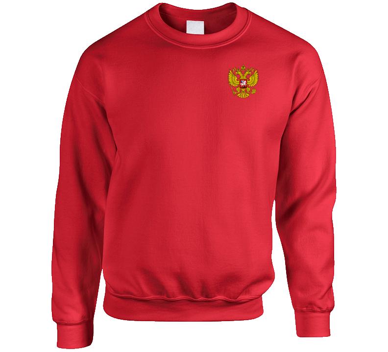 Russian Coat Of Arms Cool Russia Soccer Team Crest Fifa 2018 Football Sports Team Fan Crewneck Sweatshirt