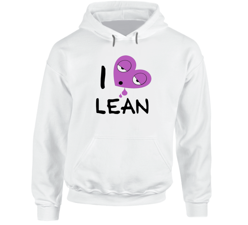 I Heart Lean Sizzurp Promethazine Codeine Rap Music Drugs Hoodie