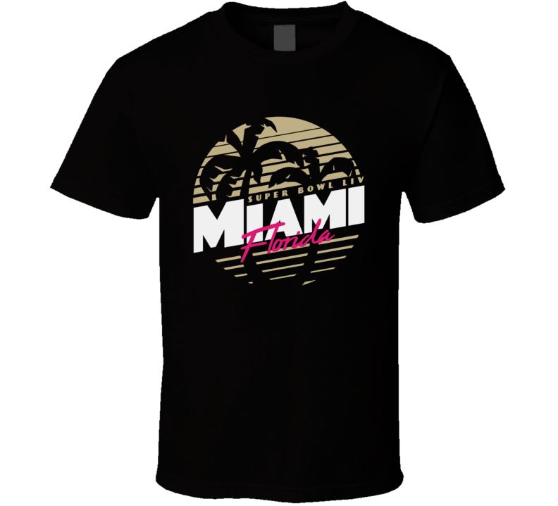 Super Bowl Liv 54 Miami Florida Logo Football Sports Fan T Shirt