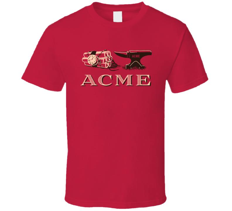 Acme Company Loonie Tunes Cartoon Fan T Shirt