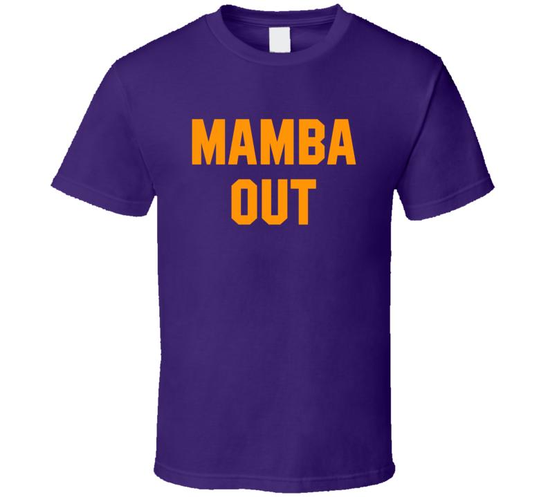 Mamba Out Kobe Bryant Basketball Fan T Shirt