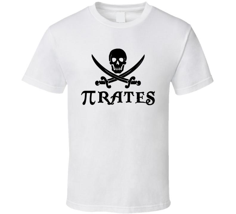 Pi Pirates Funny Math Joke T Shirt