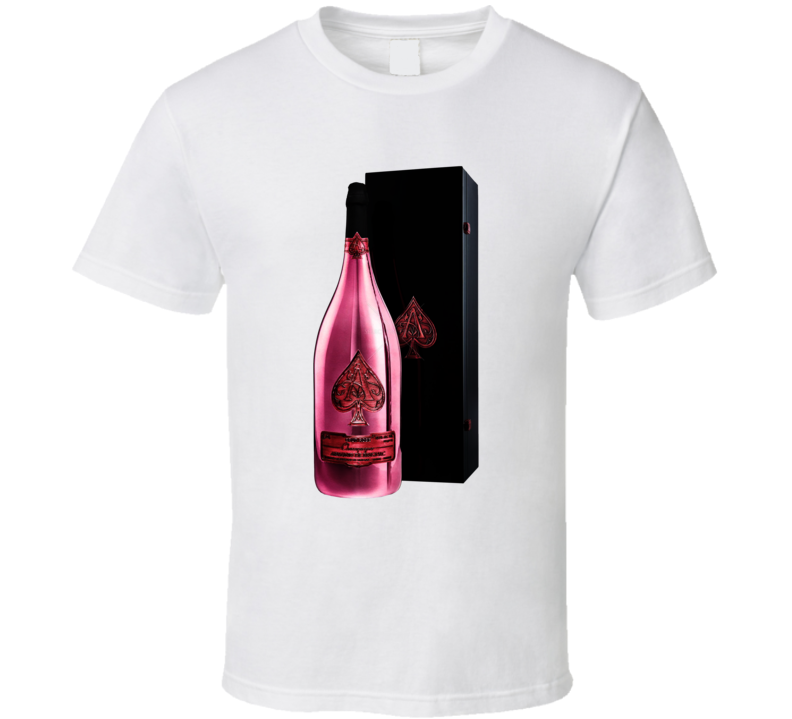 Ace Of Spades Rose Gold Champagne Bottle T Shirt