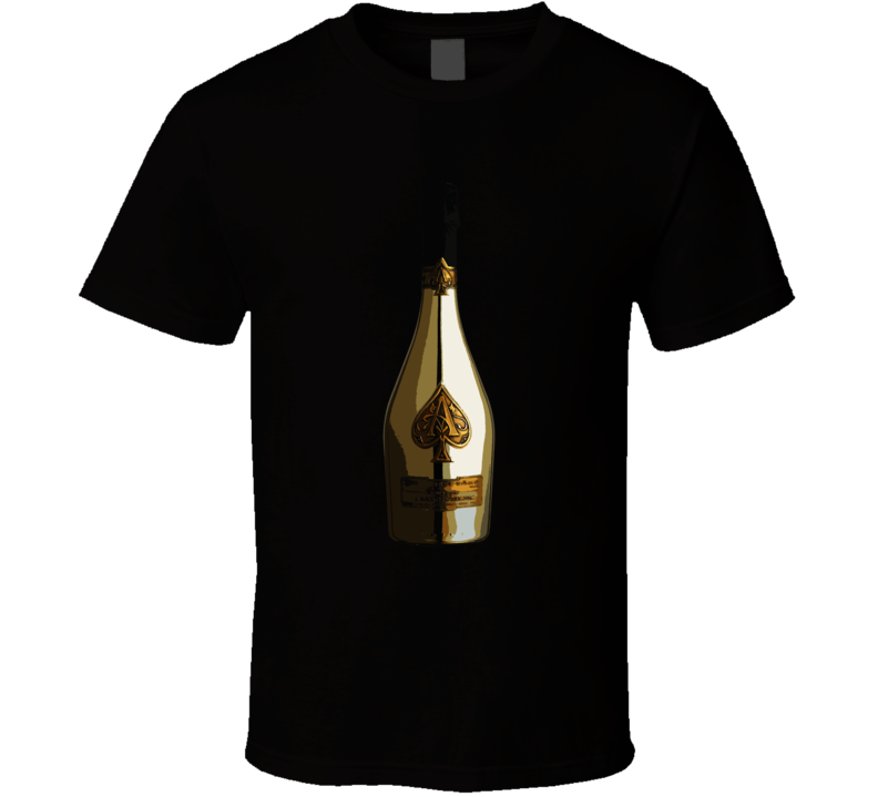 Ace Of Spades Gold Champagne Bottle T Shirt