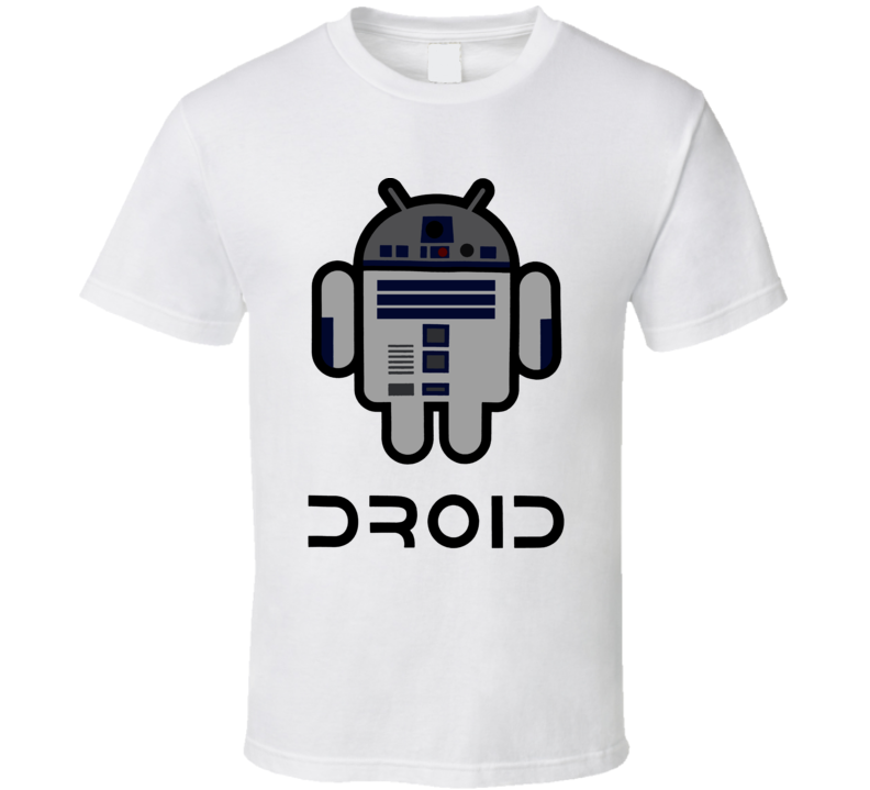Droid R2 D2 Star Wars Sci Fi Movie Fan T Shirt