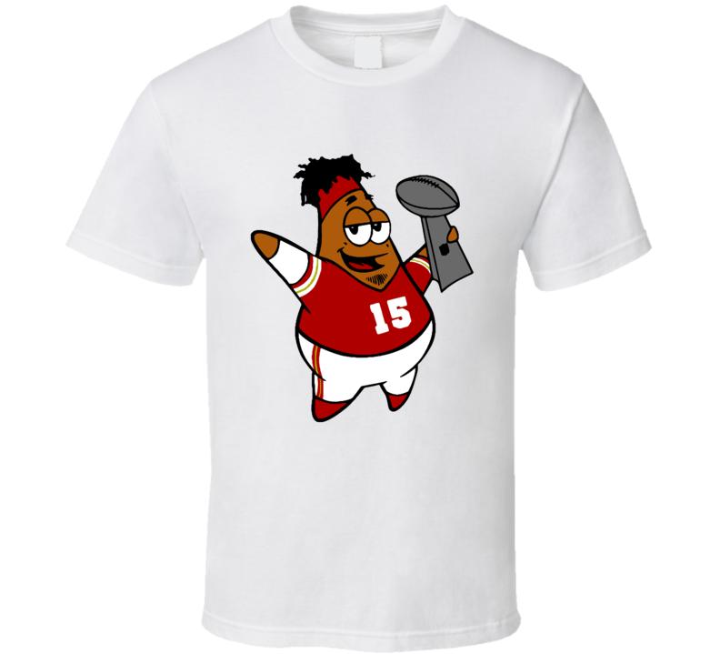 Patrick Mahomes Star Funny Spongebob Squarepants Kansas City Football Fan T Shirt