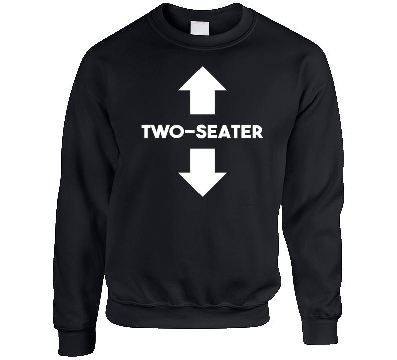 Two Seater Funny St Patricks Day Party Crewneck Sweatshirt Crewneck Sweatshirt