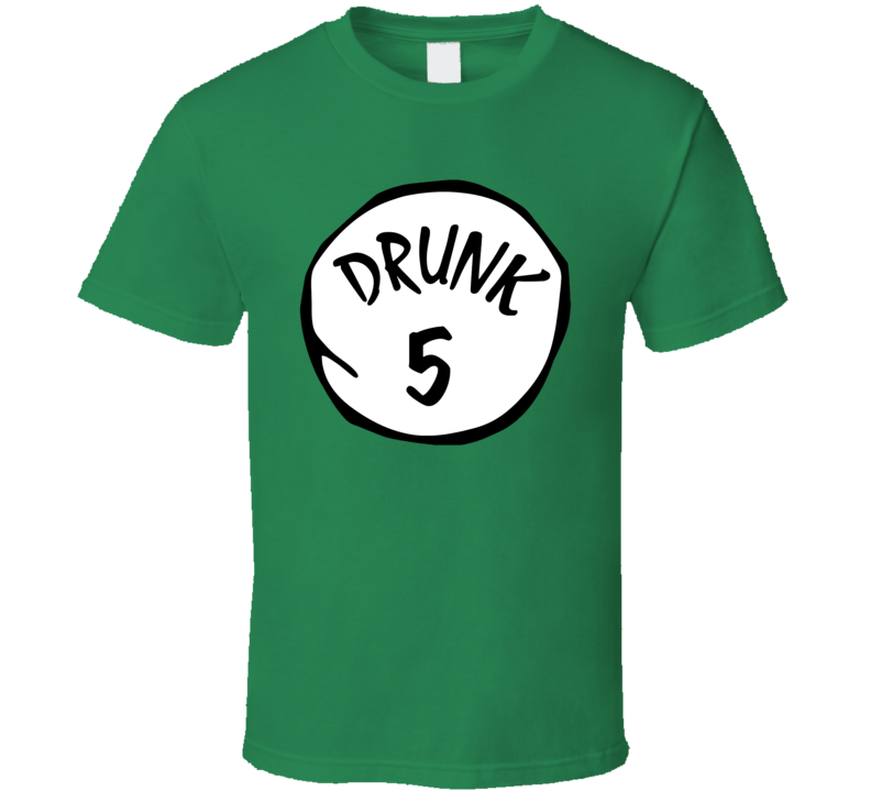 Drunk 1 2 3 4 5 6 Funny St Patricks Day Drinking T Shirt