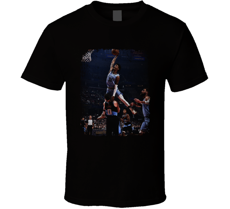 Ja Morant Dunking Over Kevin Love Memphis Basketball Fan Distressed Style T Shirt