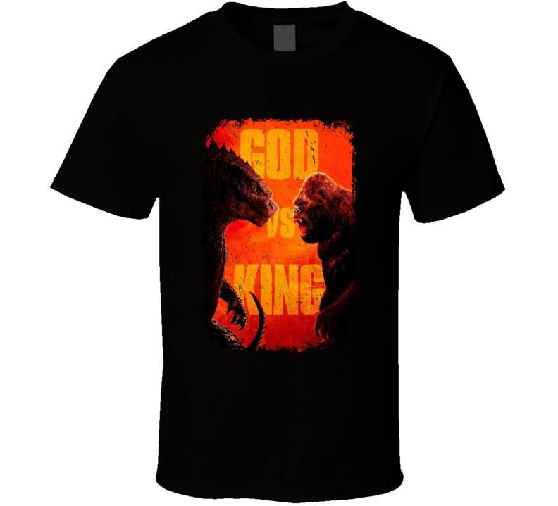 Godzilla Vs King Kong 2020 Cool Movie Poster Fan Distressed Style T Shirt