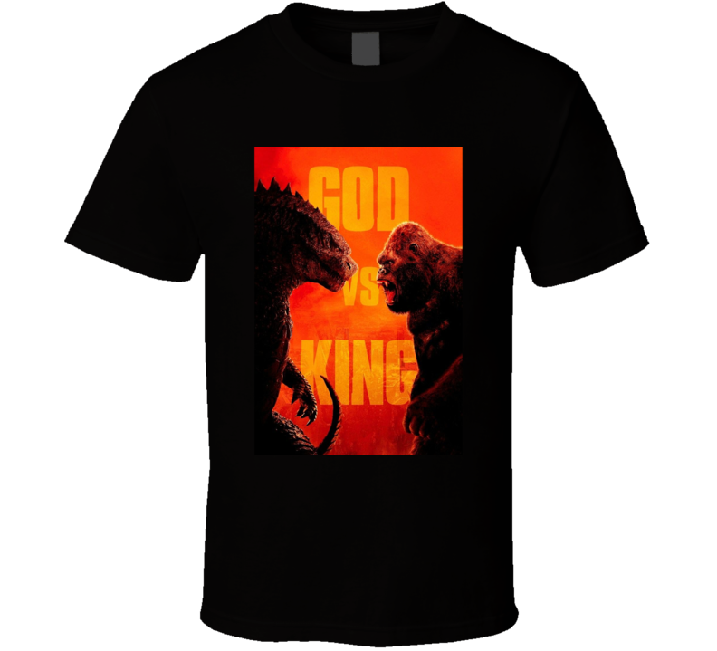 Godzilla Vs King Kong 2020 Cool Movie Poster Fan T Shirt