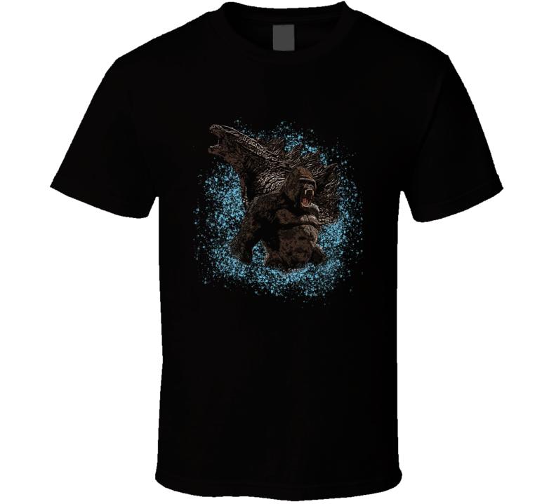 Godzilla Vs King Kong 2020 Monster Movie Poster Fan T Shirt