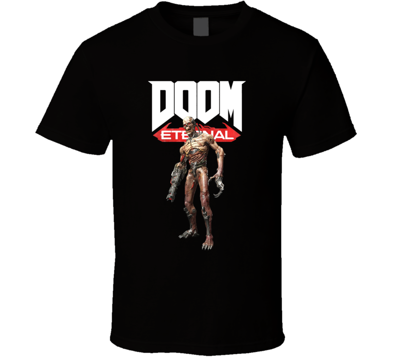 Terminator Zombie Doom Eternal Shooter Video Game Gamer T Shirt