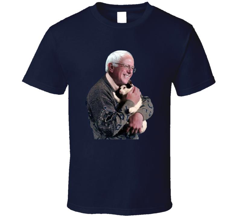 Bernie Sanders Holding A Cat T Shirt