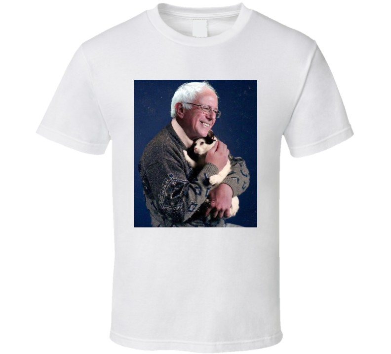 Bernie Sanders Holding A Cat Funny T Shirt