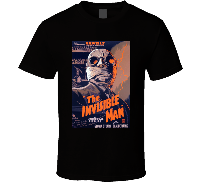 The Invisible Man Classic Horror Movie Fan Retro T Shirt