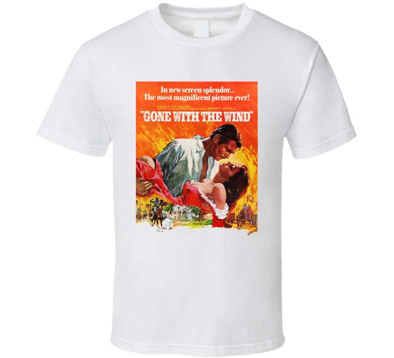 Gone With The Wind Classic Movie Fan Retro T Shirt