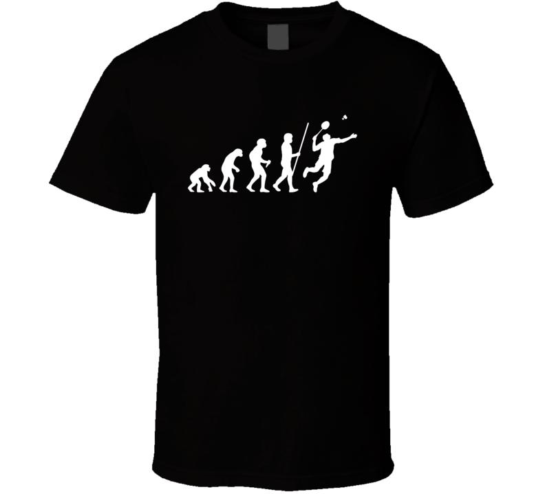 Badminton Player Evolution Funny Hobby T Shirt