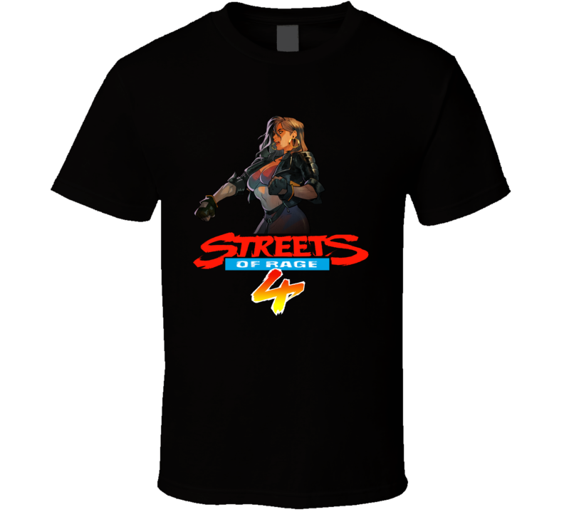 Blaze Fielding Streets Of Rage 4 Video Game T Shirt