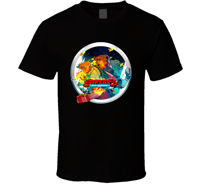 Streets Of Rage 4 Fighting Video Game Fan T Shirt