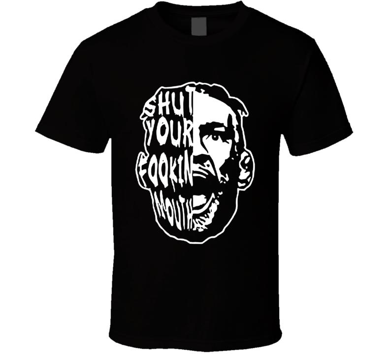 Conor Mcgregor Shut Your Fookin Mouth Big Head Silhouette Mma Fan T Shirt