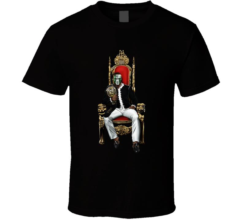 Kamaru Usman On Throne Mma Fighter Fan T Shirt