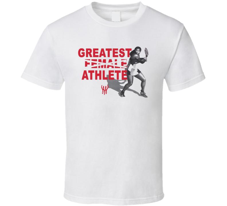Serena Williams Greatest Athlete Tennis Fan T Shirt