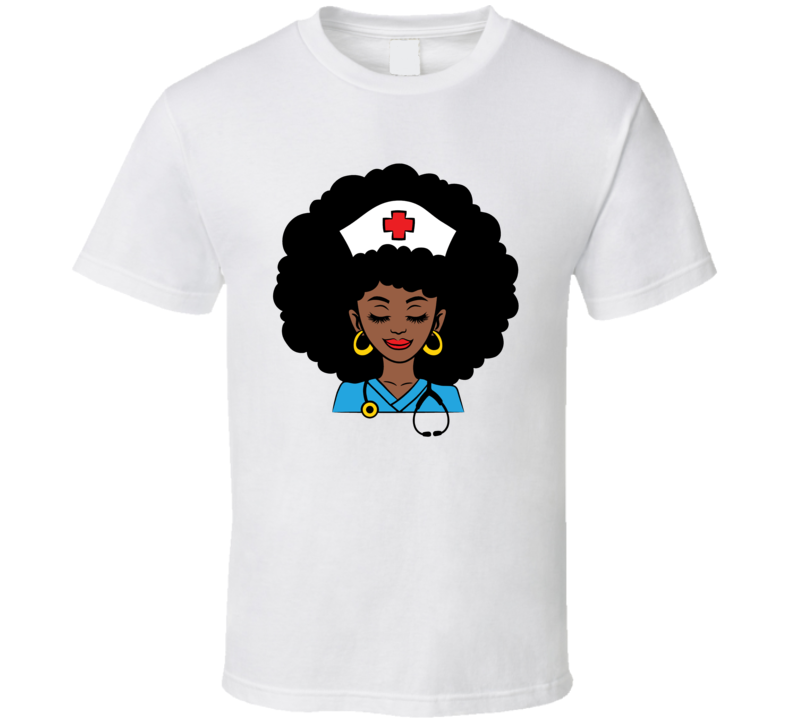 African American Nurse Essential Worker T Shirt