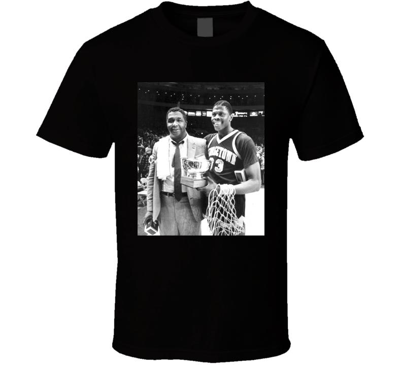 John Thompson Patrick Ewing Retro Basketball Fan T Shirt