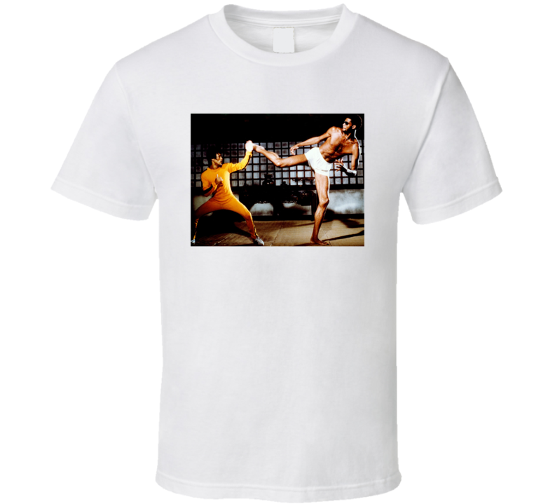 Kareem Abdul Jabbar Bruce Lee Game Of Death Retro Movie Fan T Shirt