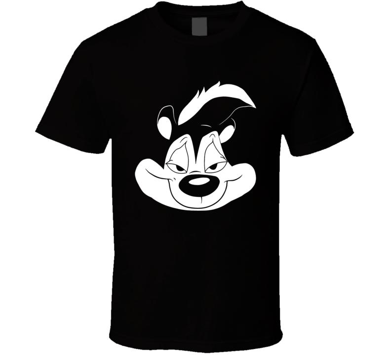 Pepe Le Pew Face Cartoon Skunk T Shirt