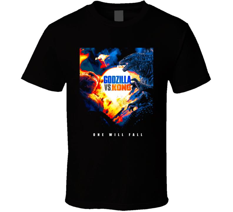 Godzilla Vs Kong 2021 Cool Sci Fi Movie  Fan T Shirt