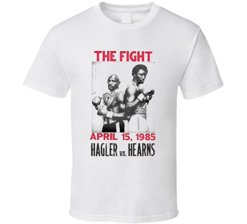 Marvelous Marvin Hagler Vs Thomas Hearns The Fight Retro Boxing  Fan T Shirt