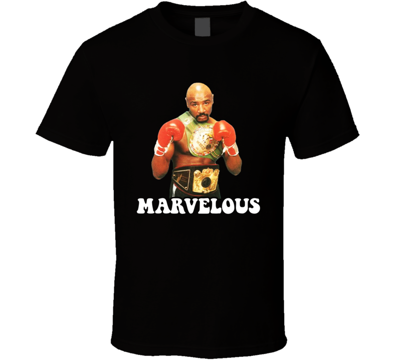 Marvelous Marvin Hagler 2 Belts Retro Boxer Fan T Shirt
