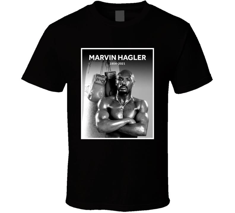 Marvin Hagler 1954-2021 Retro Boxer Fan T Shirt