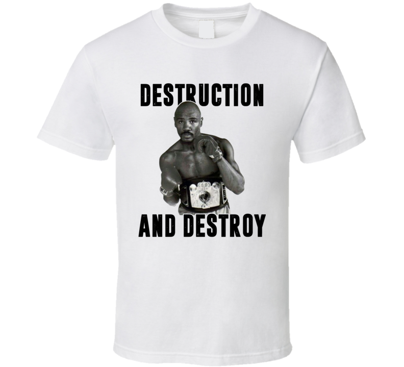 Destruction And Destroy Marvin Hagler Retro Boxer Fan Cool T Shirt