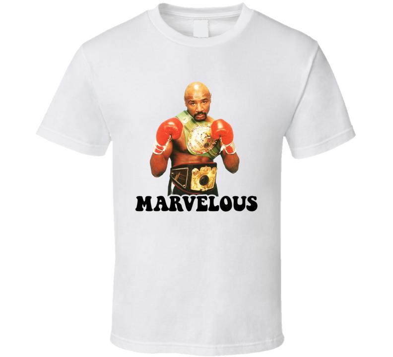 Marvelous Marvin Hagler 2 Belts Retro Boxer Fan Cool T Shirt