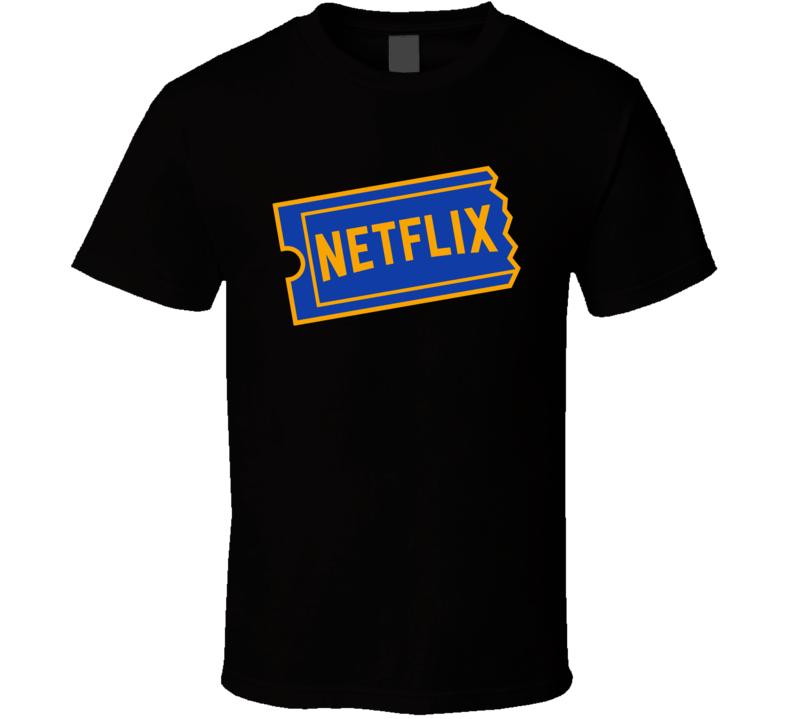 Blockbuster Netflix Mashup Parody Funny T Shirt